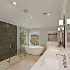 Residential Bath $75,001 to $100,000 – Marvelous Home Makeovers/Aria Stone Gallery – A Team Entry